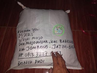 Benih Padi TRISAKTI Pesanan    AS'ARI, Jombang, Jatim.  (Sesudah di Packing)