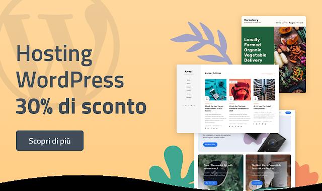 Hosting Wordpress sconto 30%