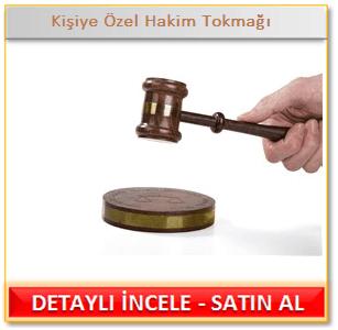 Kişiye Özel Hakim Tokmağı