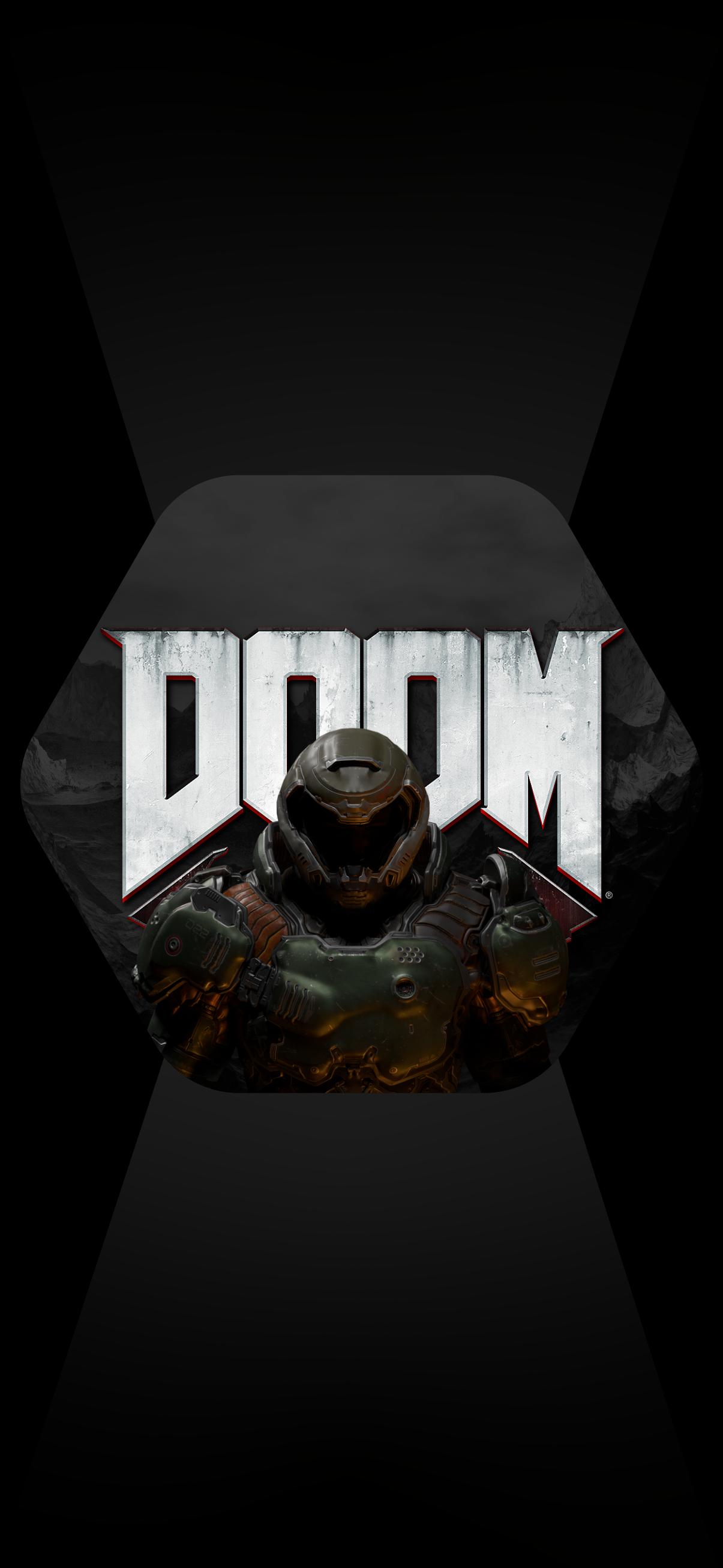 doom phone wallpaper dark hd