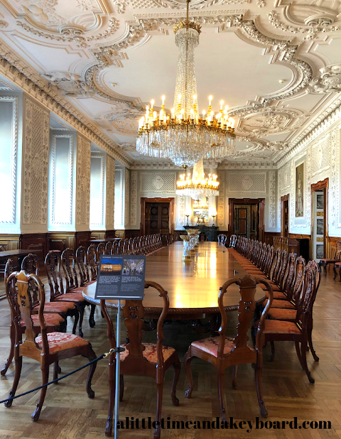 Incredible mahogany dining table made from wood salvaged from the fire at Christiansborg Palace