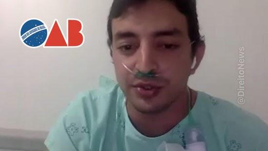 oab violacao advogado audiencia internado covid