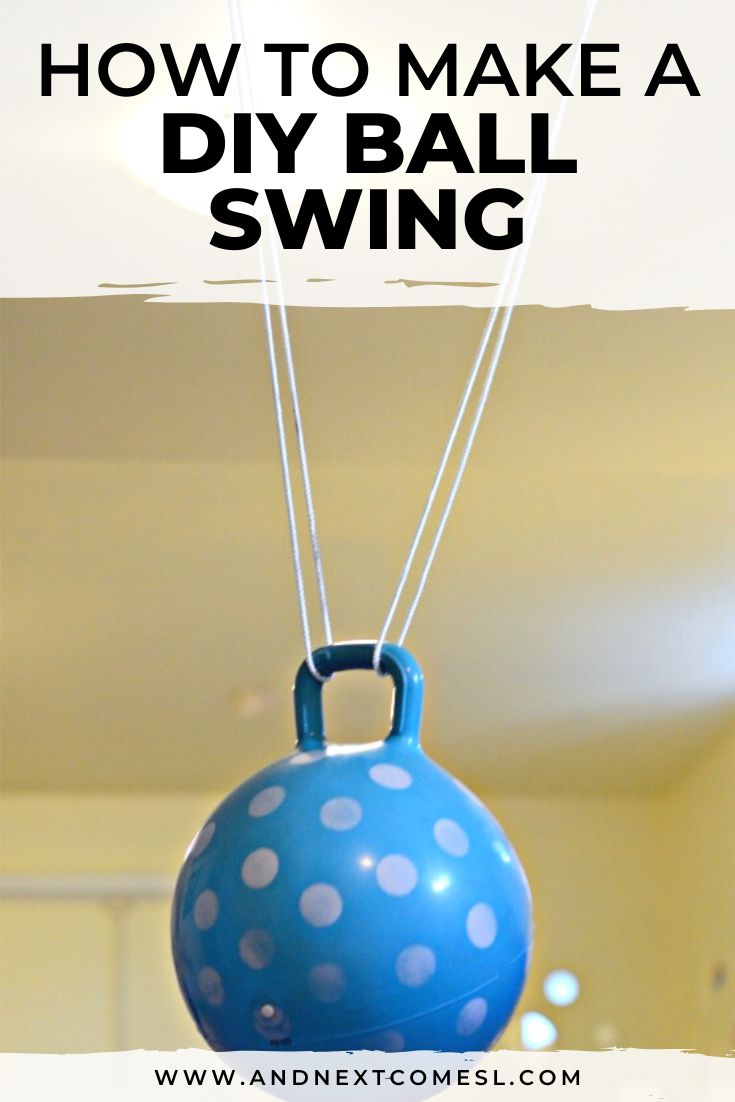 How to make a DIY ball swing for kids