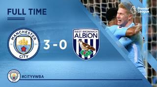 Manchester City vs West Bromwich Albion 3-0