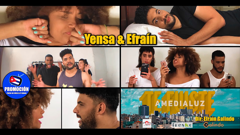 Amedialuz (Yensa & Efraín) - ¨Te fuiste¨ - Videoclip - Director: Efraín Galindo. Portal Del Vídeo Clip Cubano. Música cubana. Canción. Cuba.