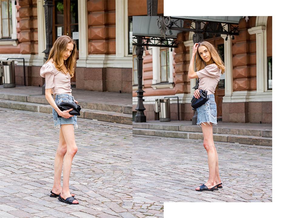 How to wear denim shorts, summer fashion 2020 - Kuinka yhdistää farkkushortsit, kesämuoti 2020