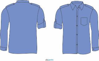 30+ Desain Baju PDH Polos