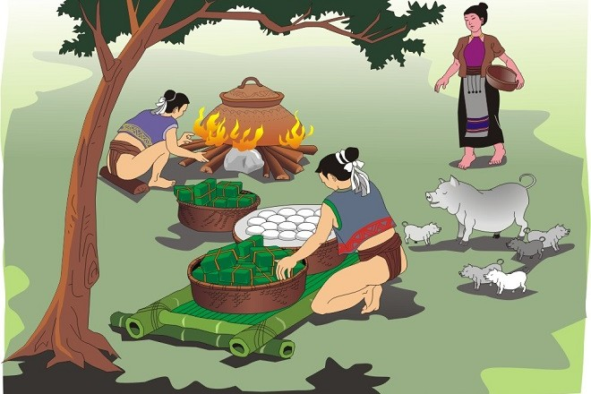 Myths and Legends: Story Of The Rice Cake In Tet Holiday