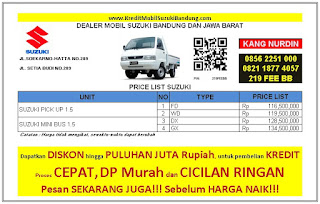 Suzuki Carry Pick Up Bandung 2016, Harga Suzuki Carry Pick Up 2016, Kredit Suzuki Carry Pick Up 2016