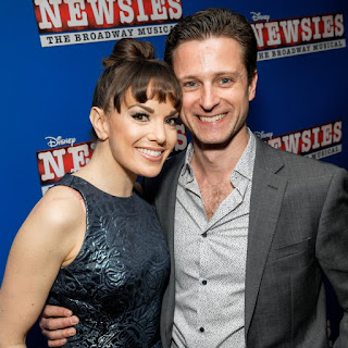 Broadway couple Kara Lindsay and Kevin Massey