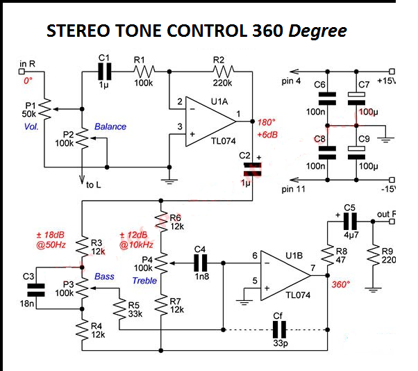 stereo baxandall tone control