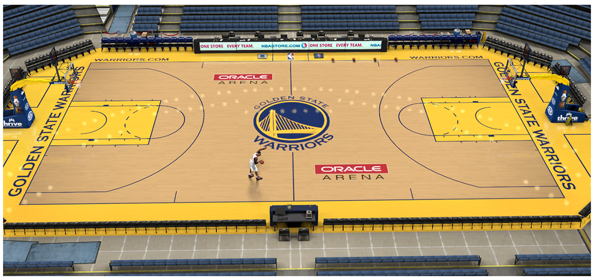 NBA 2K14 Oracle Arena Court Patch