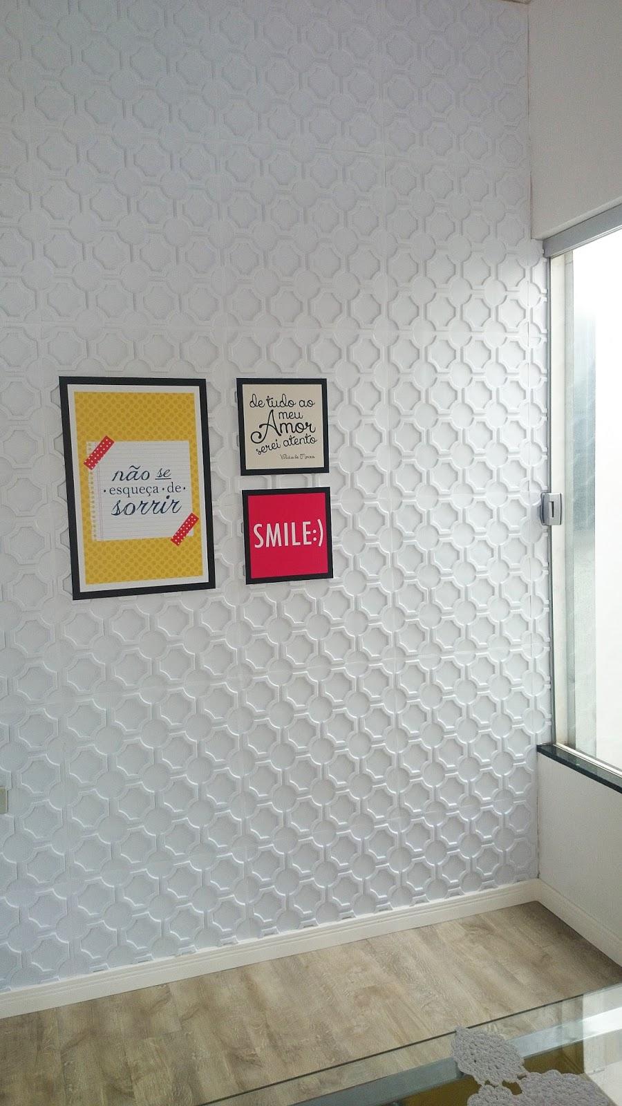 V mo l em casa como instalar forrorama placada 3d na for Placas pvc para paredes