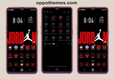 Shades of Red Names Theme For Oppo Android Smartphone