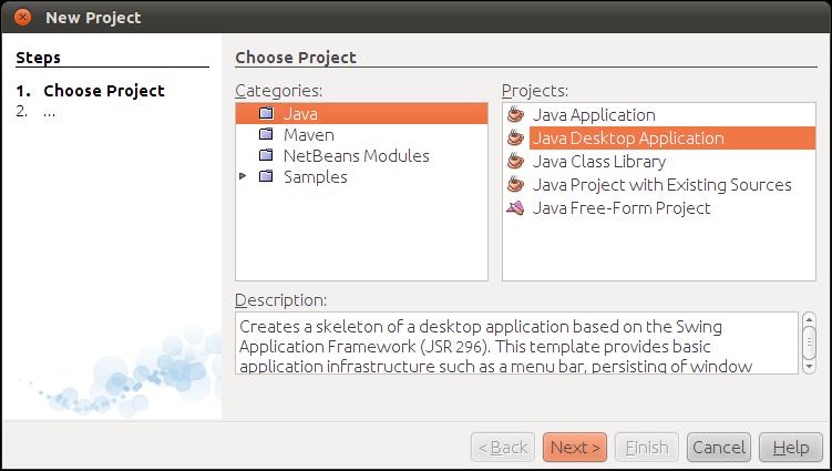 Java-Buddy: HelloNetBeans: Create Java Desktop Application using