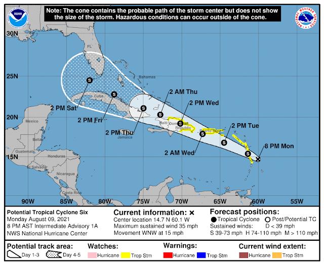 """Se ha generado el potencial ciclón tropical """"Seis"""", muy lejos de costas mexicanas"""