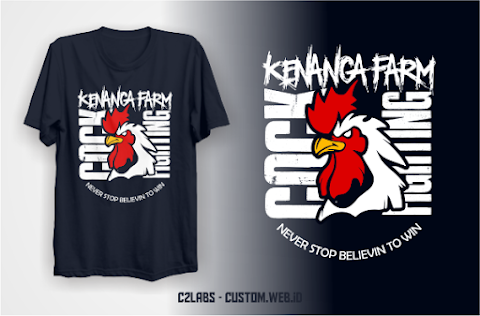Desain Kaos Komunitas Ayam Cock Fighter