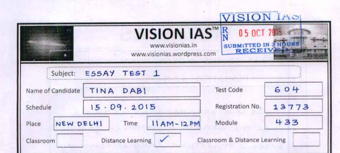 Free online test series for ias