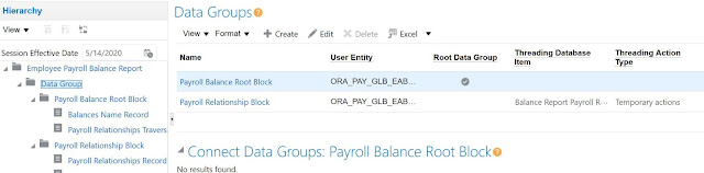 Data Group Example of Employee Payroll Balance Report