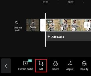 open the second edit menu