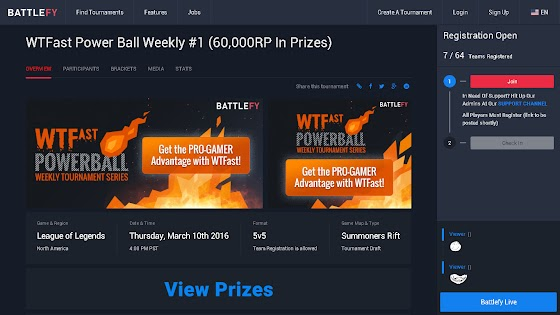 WTFast Power Ball Weekly Tournament Series