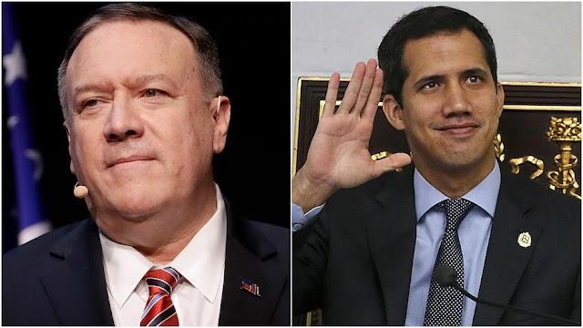Llamada del secretario Pompeo con el presidente interino venezolano Guaidó