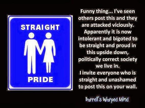 Heterosexual marriage facebook post