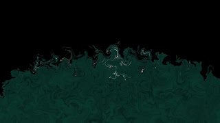 Green and Dine (Green and Black) - Abstract Wallpaper Art With Black or Dark Color - Collection