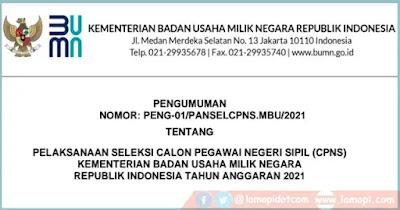 CPNS Kementerian BUMN