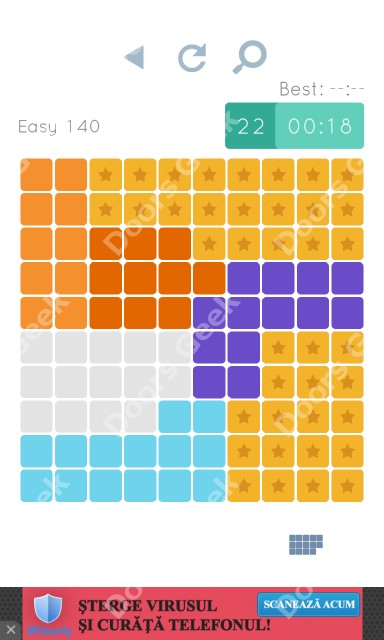 Cheats, Walkthrough for Blocks and Shapes Level 140