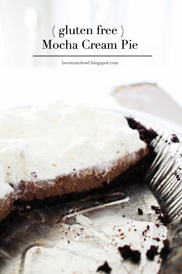 The Best Mocha Cream Pie ( Gluten Free )