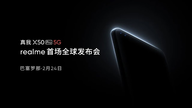 Realme X50 Pro 5G is unveiled as MWC 2020 during an online launch event that gets canceled due to the coronavirus.