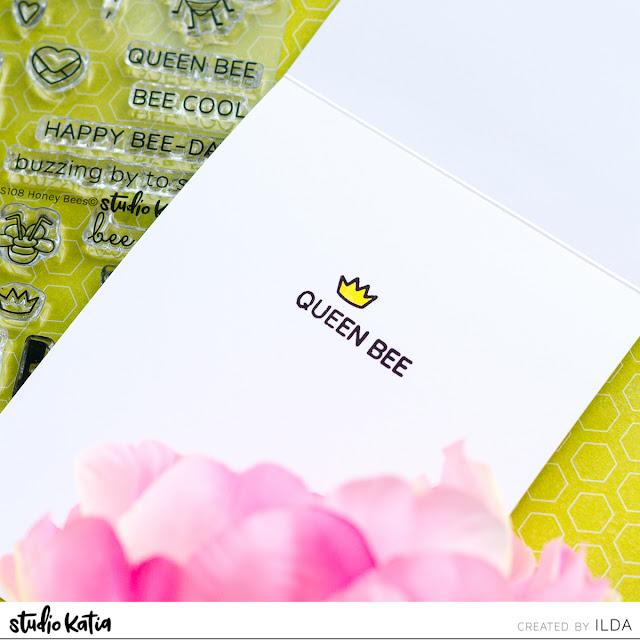 Queen Bee Birthday Shaker Card | Studio Katia