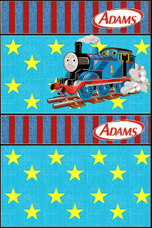 Thomas the Train Free Printable Gum Adams Labels.