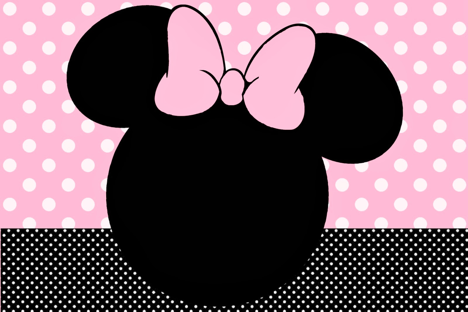 Invitaciones Gratis de Minnie.