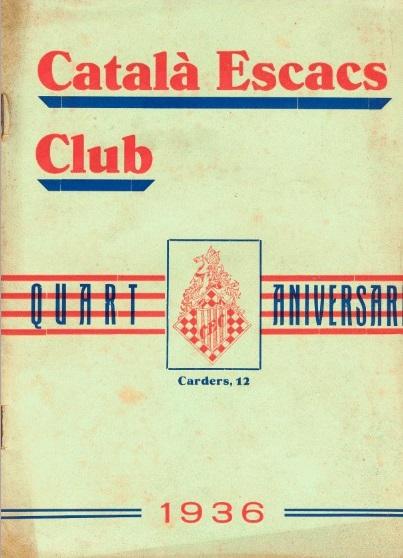 Boletín de 1936 del Català Escacs Club