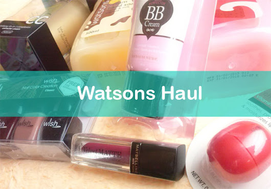Watsons Mini Haul