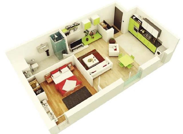 Gambar Desain Rumah Minimalis Sederhana 2 Kamar Tidur