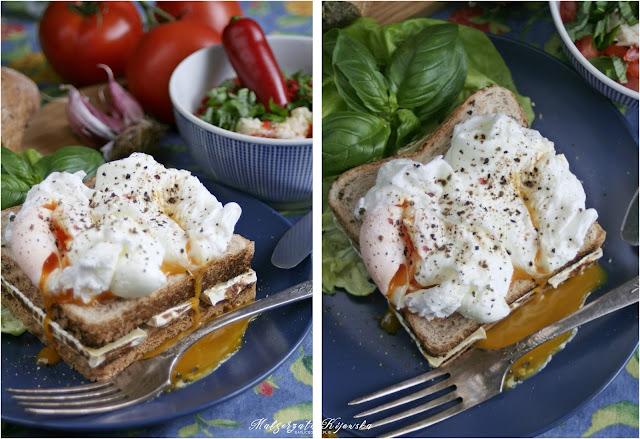 jajka w koszulce, jajko pochette, tosty, sandwich, daylicooking, Małgorzata Kijowska