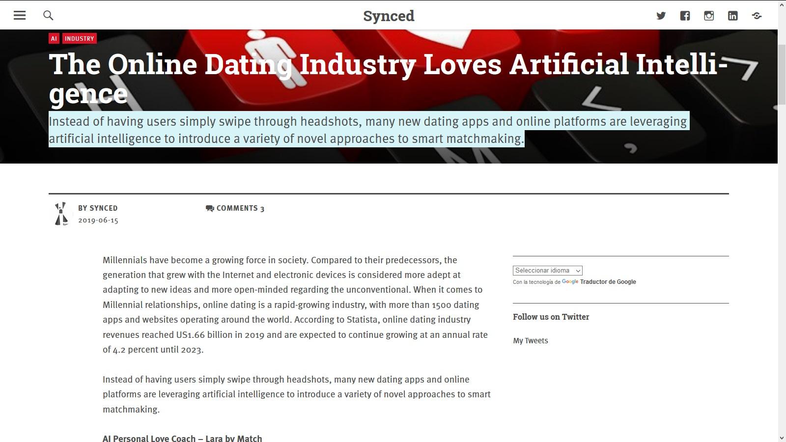 Dating app con swipe