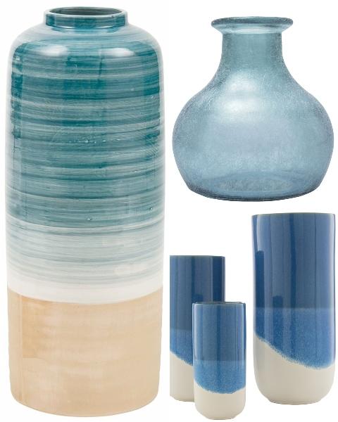 Blue Ocean Beach Vases