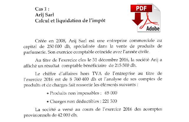 Exercices Corrigés Fiscalité - Impôt sur les sociétés