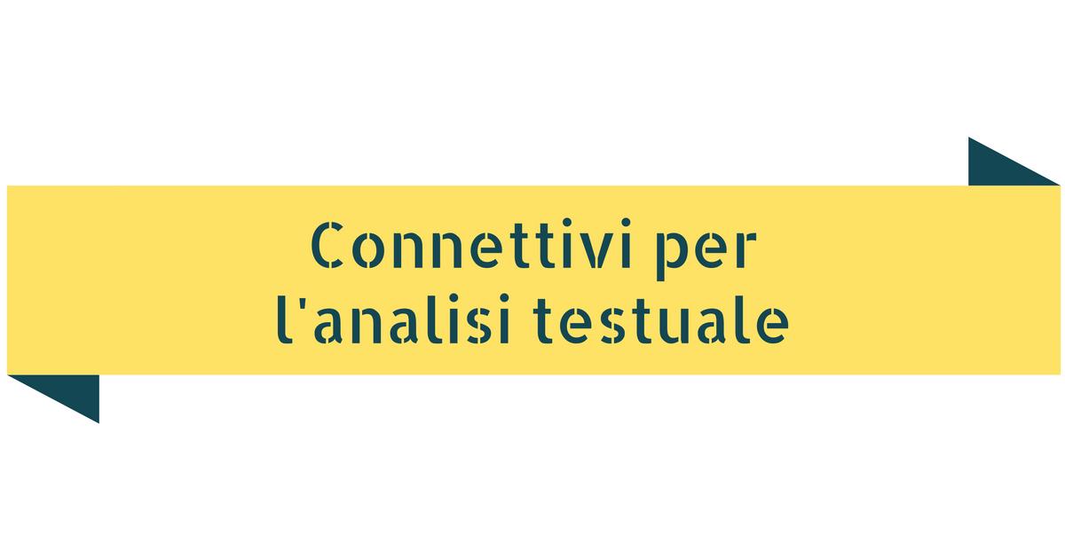 Connettivi per l'analisi testuale