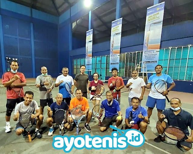 Jalin Silaturahmi, Ketua Baveti Surabaya Kunjungi Klub Tenis Bledexz (PLN)