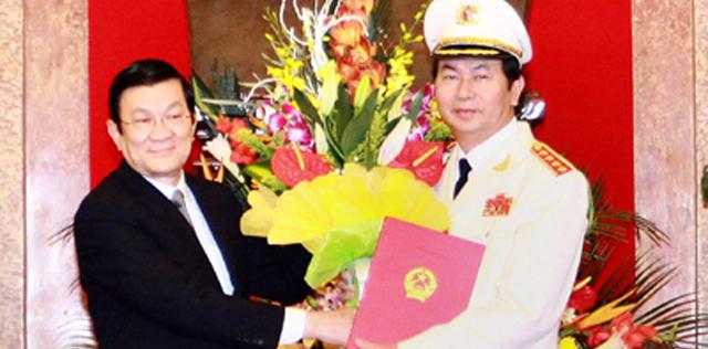 Bộ trưởng CA Trần Đại Quang được thăng hàm Đại tướng