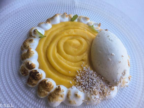 Restaurante Baita Gaminiz. Lemon Pie Baita. Bilbao