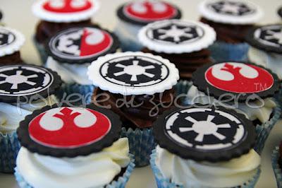 star wars cake cupcake pasta di zucchero polvere di zucchero cake design torta decorata star wars