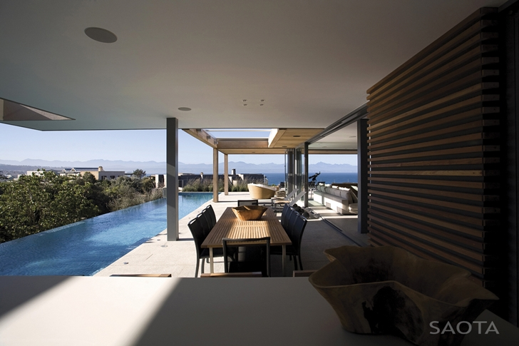 Covered terrace of Beautiful Plett 6541+2 Home by SAOTA