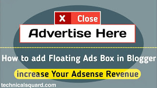 Setup Floating Ads On Blogger And Increase Your Revenue|