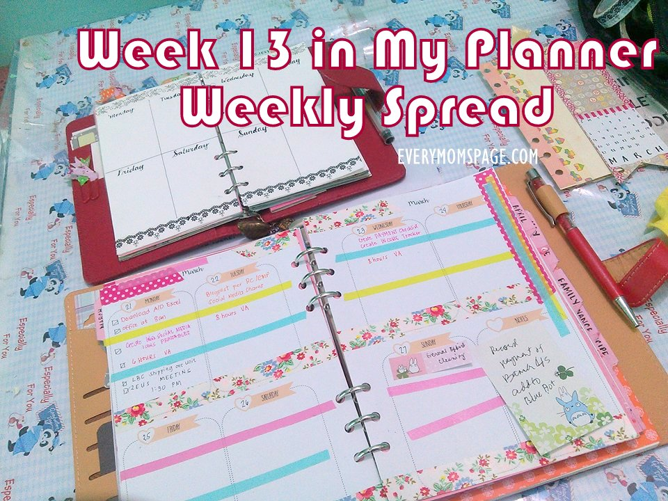 Plan With Me, Week 13 Planner Weekly Spread